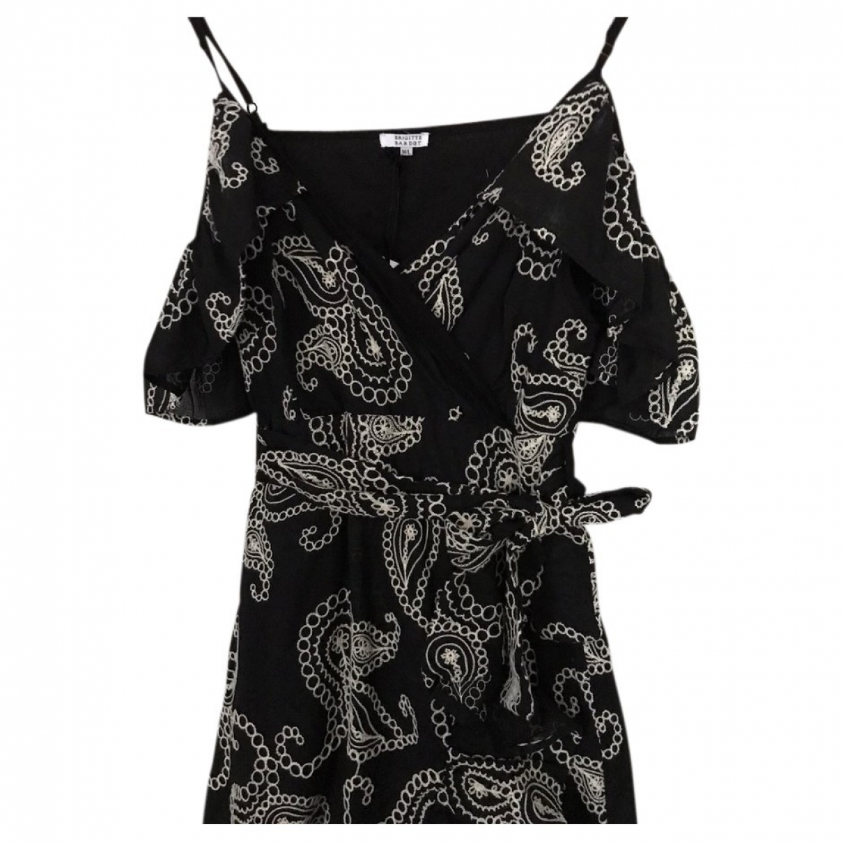 Brigitte Bardot \N Kleid in  Schwarz Baumwolle
