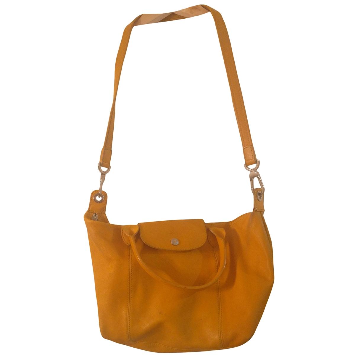 Longchamp Pliage  Handtasche in  Gelb Leder