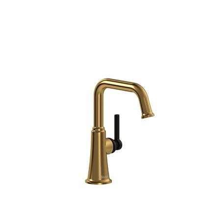 Momenti MMSQS00LBGBK Single Hole Lavatory Faucet with L Lever Handle without Drain 1.5 GPM  in Brushed