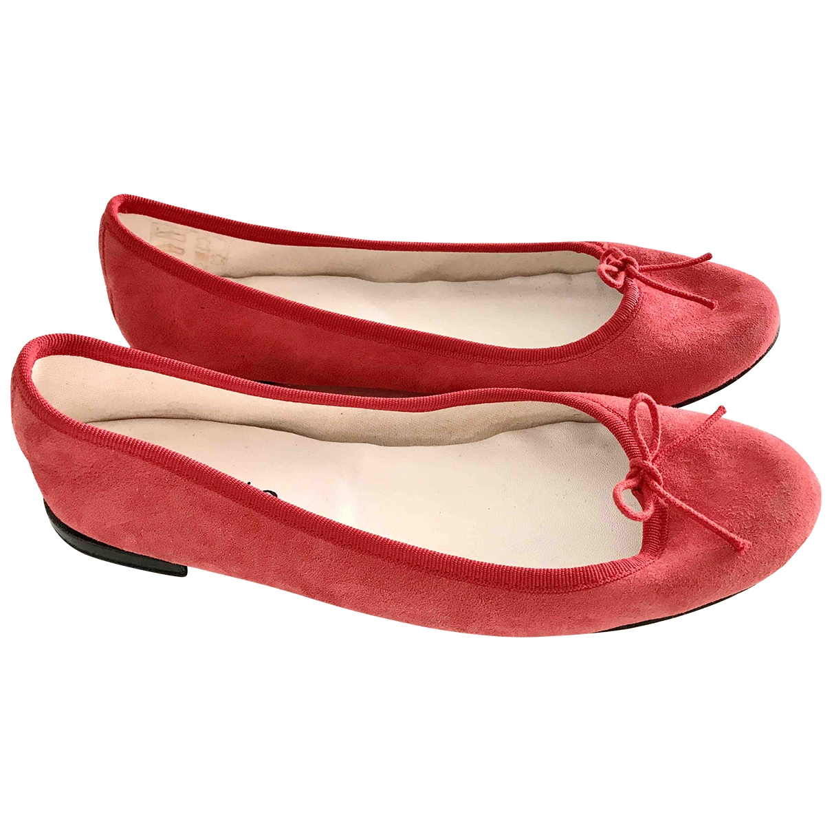 Repetto \N Red Suede Ballet flats for Women 39.5 EU