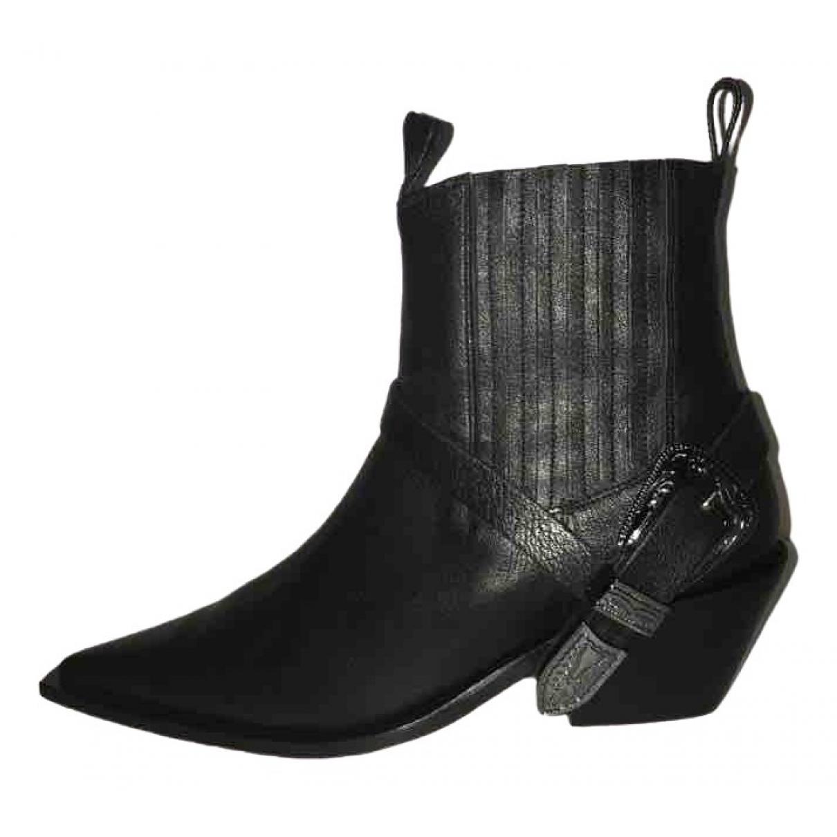 Anine Bing - Bottes   pour femme en cuir - noir