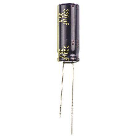 Panasonic 330μF Electrolytic Capacitor 35V dc, Through Hole - EEUFC1V331L (5)