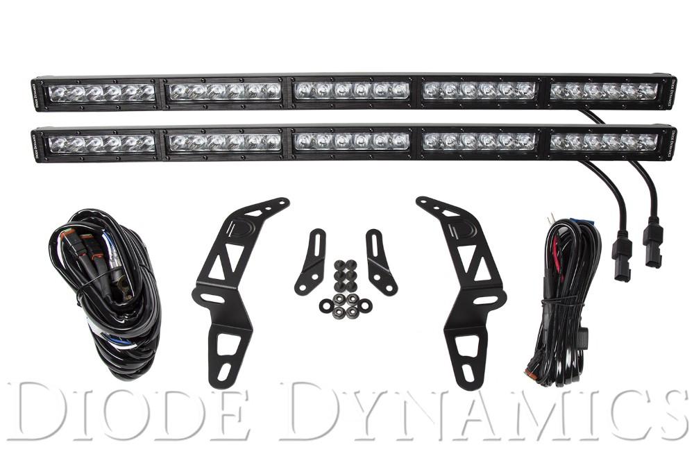 Diode Dynamics DD6083 Jeep 2018 SS30 Bumper LED Kit White Driving Dual