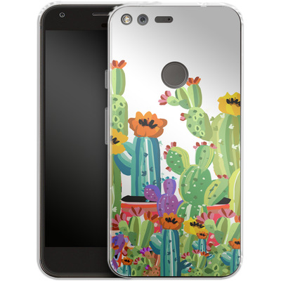 Google Pixel Silikon Handyhuelle - Cacti Land von Mukta Lata Barua