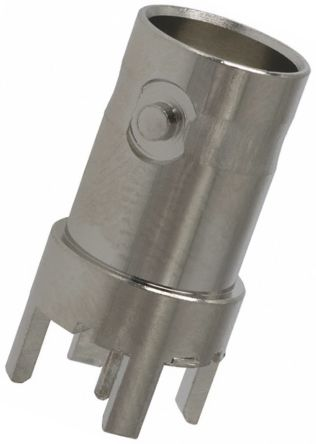 TE Connectivity , BNC Straight 50Ω PCB Mount BNC Connector, jack, Nickel, Through Hole Termination