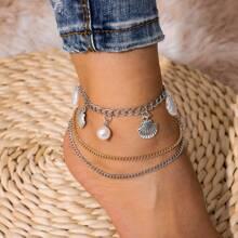 Shell Tassel Charm Anklet