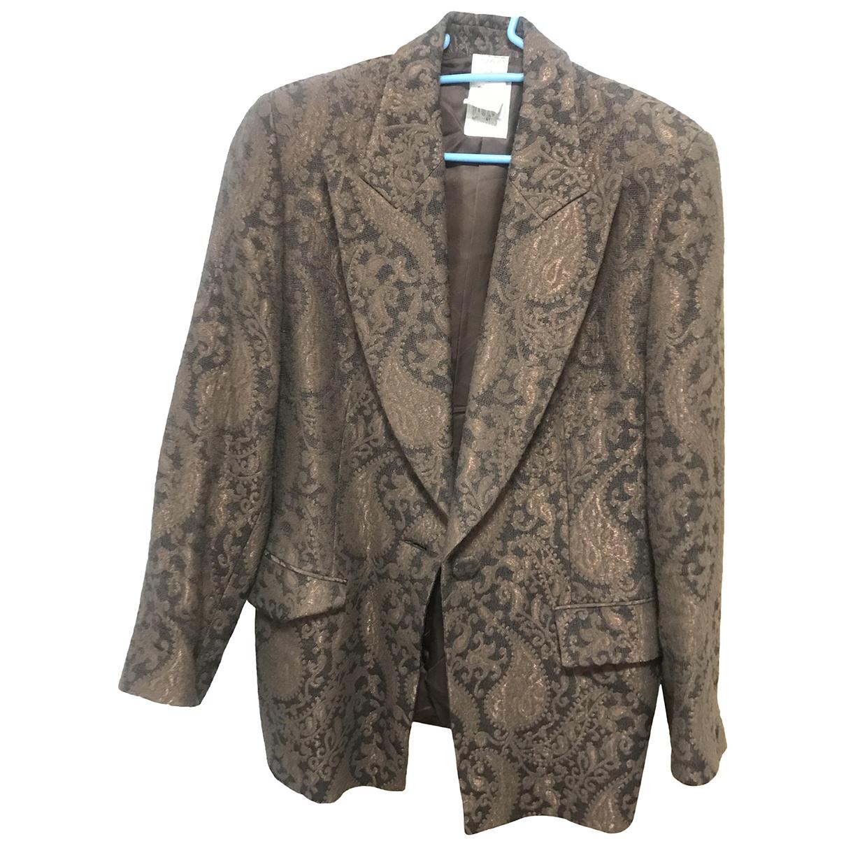 Gianfranco Ferre - Veste   pour femme en laine - marron