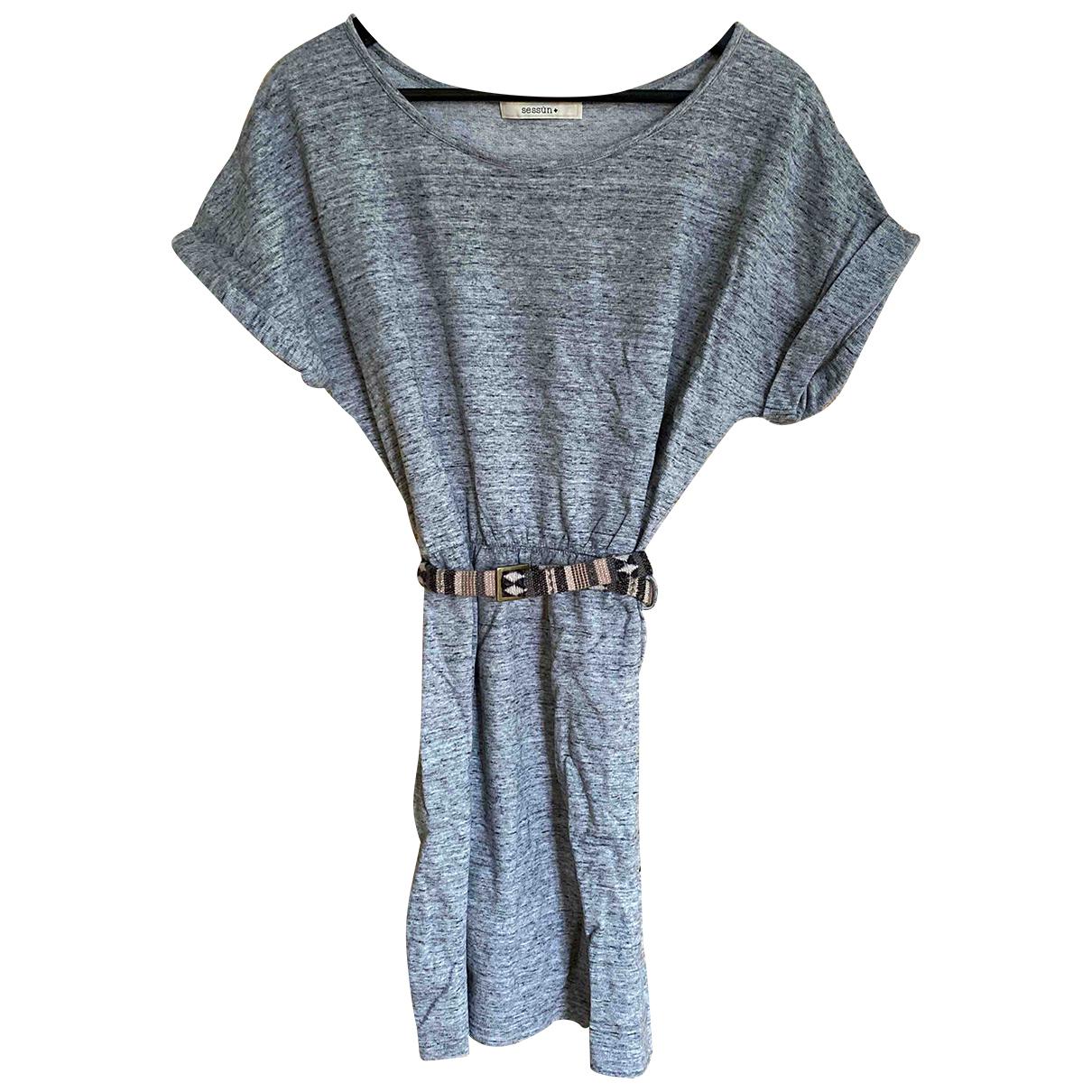 Sessun N Grey Cotton dress for Women S International
