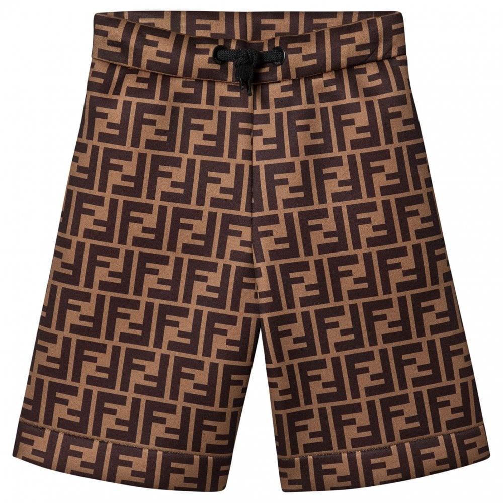 Fendi Bermuda Shorts Colour: BROWN, Size: 10 YEARS