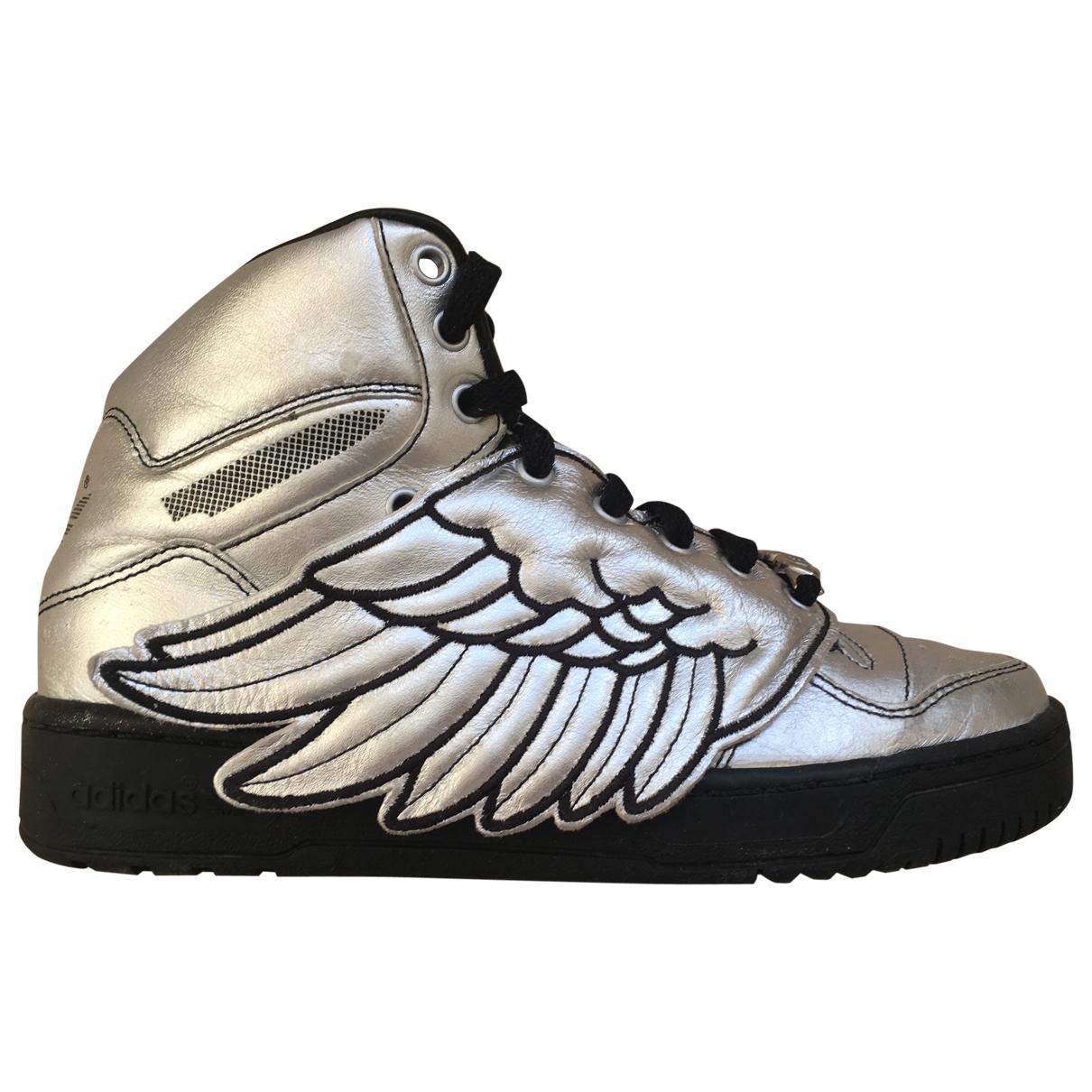 Jeremy Scott Pour Adidas \N Sneakers in  Silber Leder