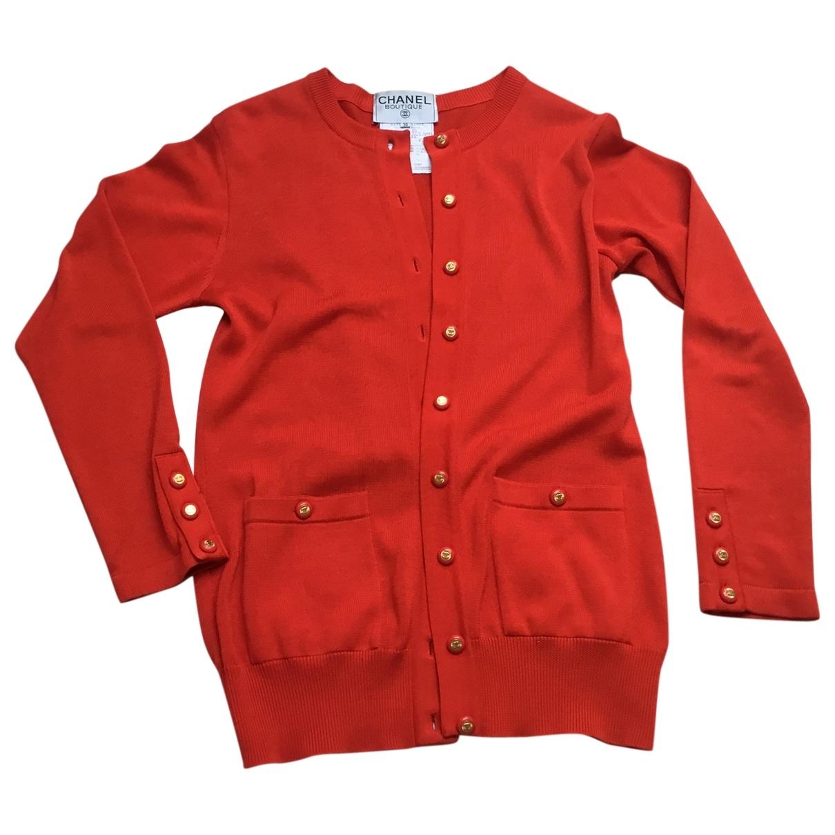 Chanel - Veste   pour femme en coton - rouge