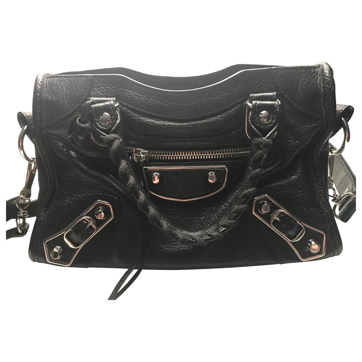 Balenciaga Classic Metalic Black Leather handbag for Women \N