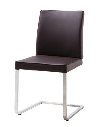 DC1049P-BRN Ivy Dining Chair  Chocolate Faux Leather  Chrome