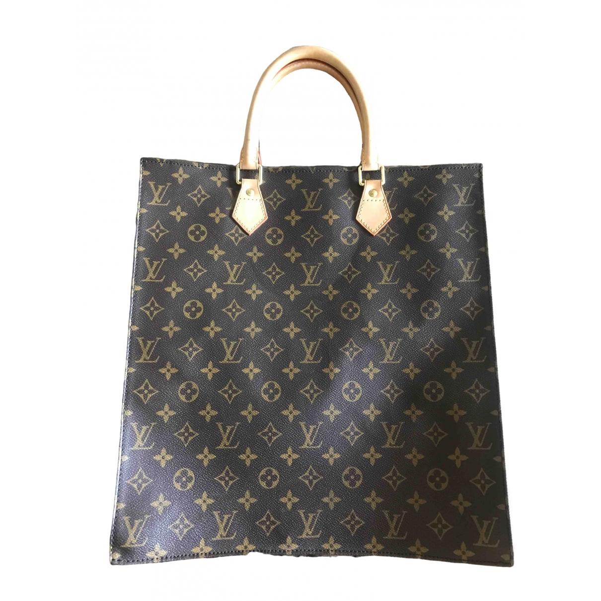 Louis Vuitton Plat Brown Cloth handbag for Women \N