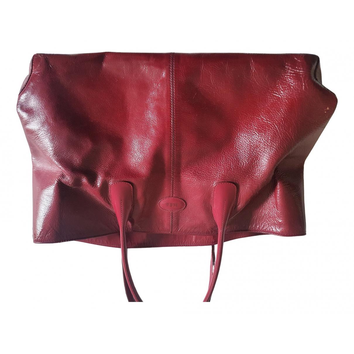 Tods - Sac a main   pour femme en cuir - rouge