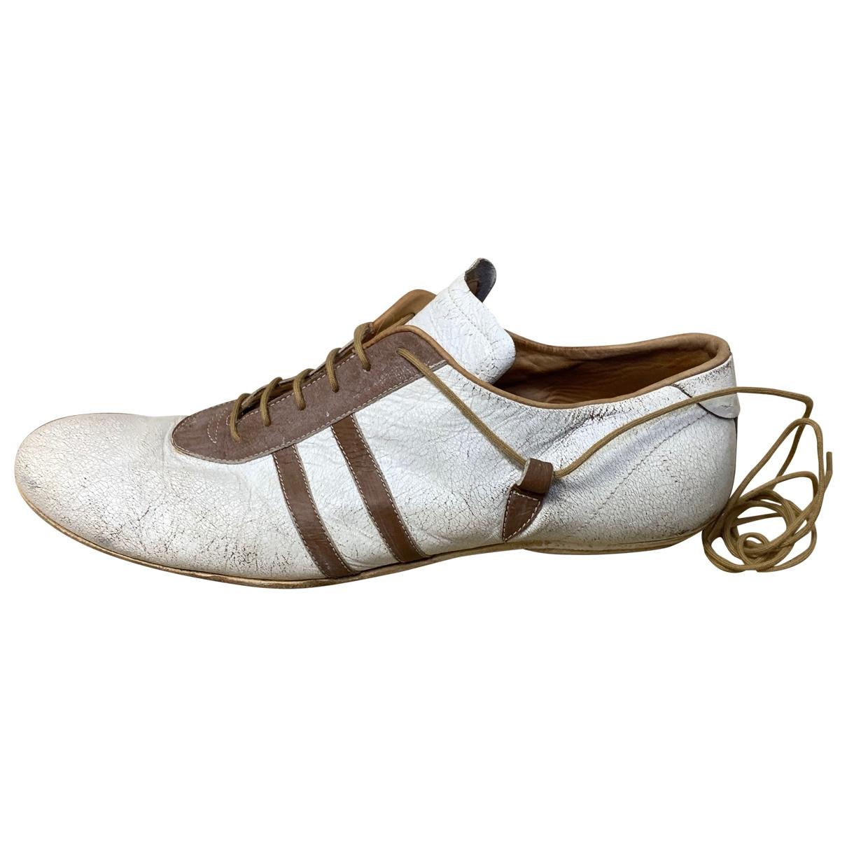 Dries Van Noten \N Sneakers in  Weiss Leder