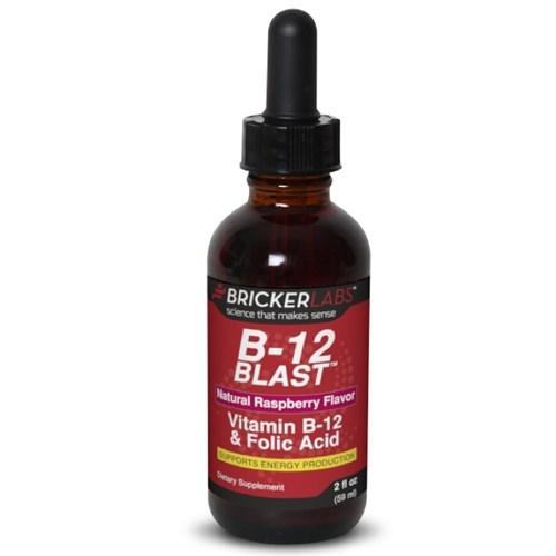 B-12 Blast Methycobalamin Raspberry 2 fl oz by Bricker Labs