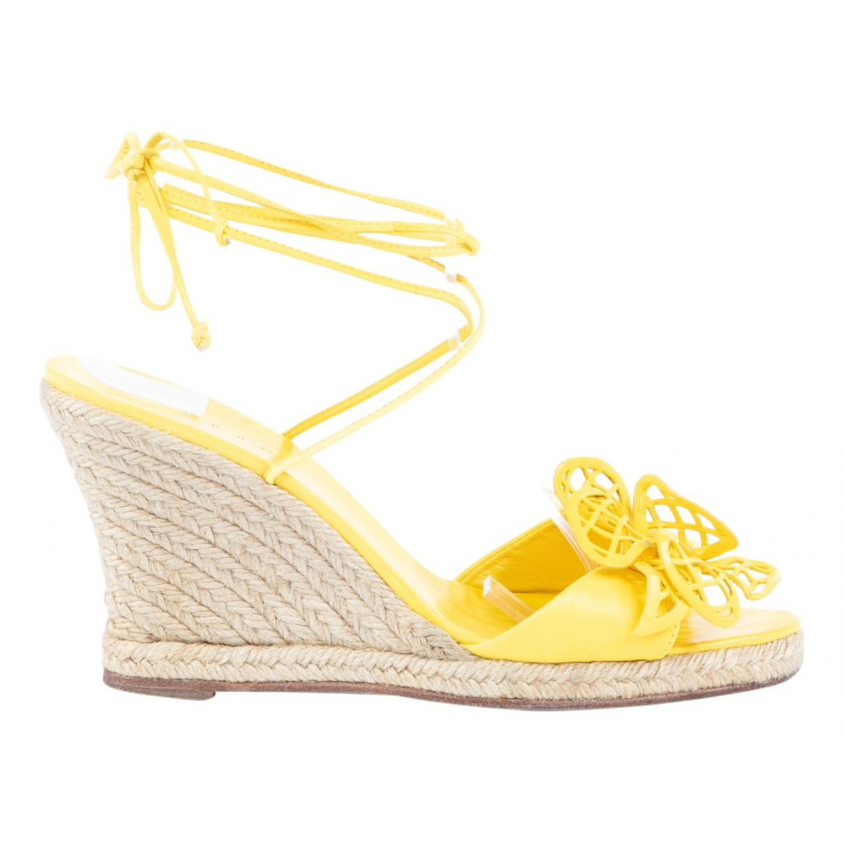 Celine \N Yellow Leather Sandals for Women 38 EU