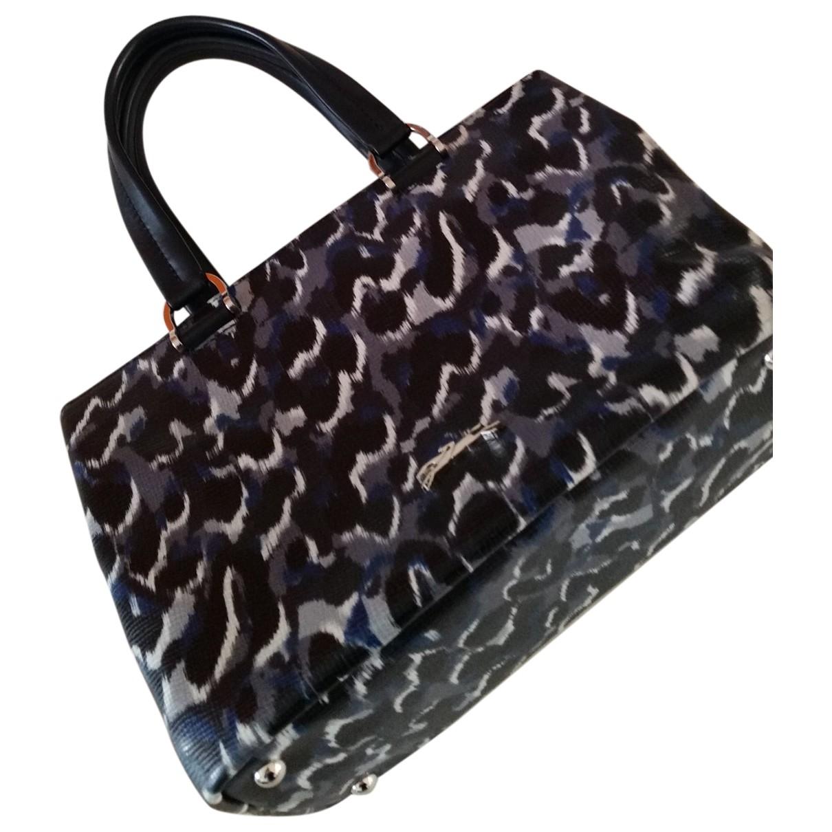 Longchamp - Sac a main   pour femme en cuir - gris