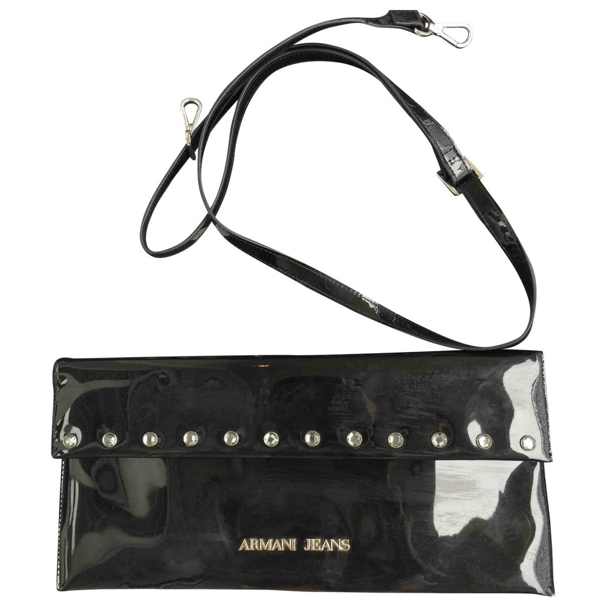 Armani Jeans \N Clutch in  Schwarz Lackleder