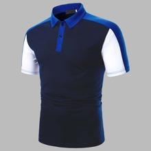Polo Shirt mit Ausschnitt und Naht