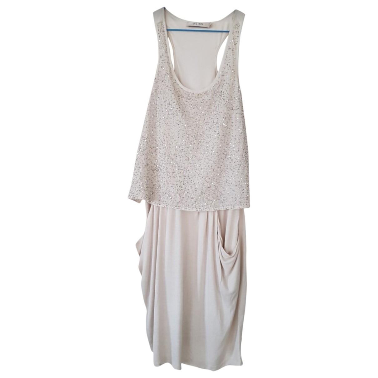 Reiss \N Kleid in  Beige Polyester