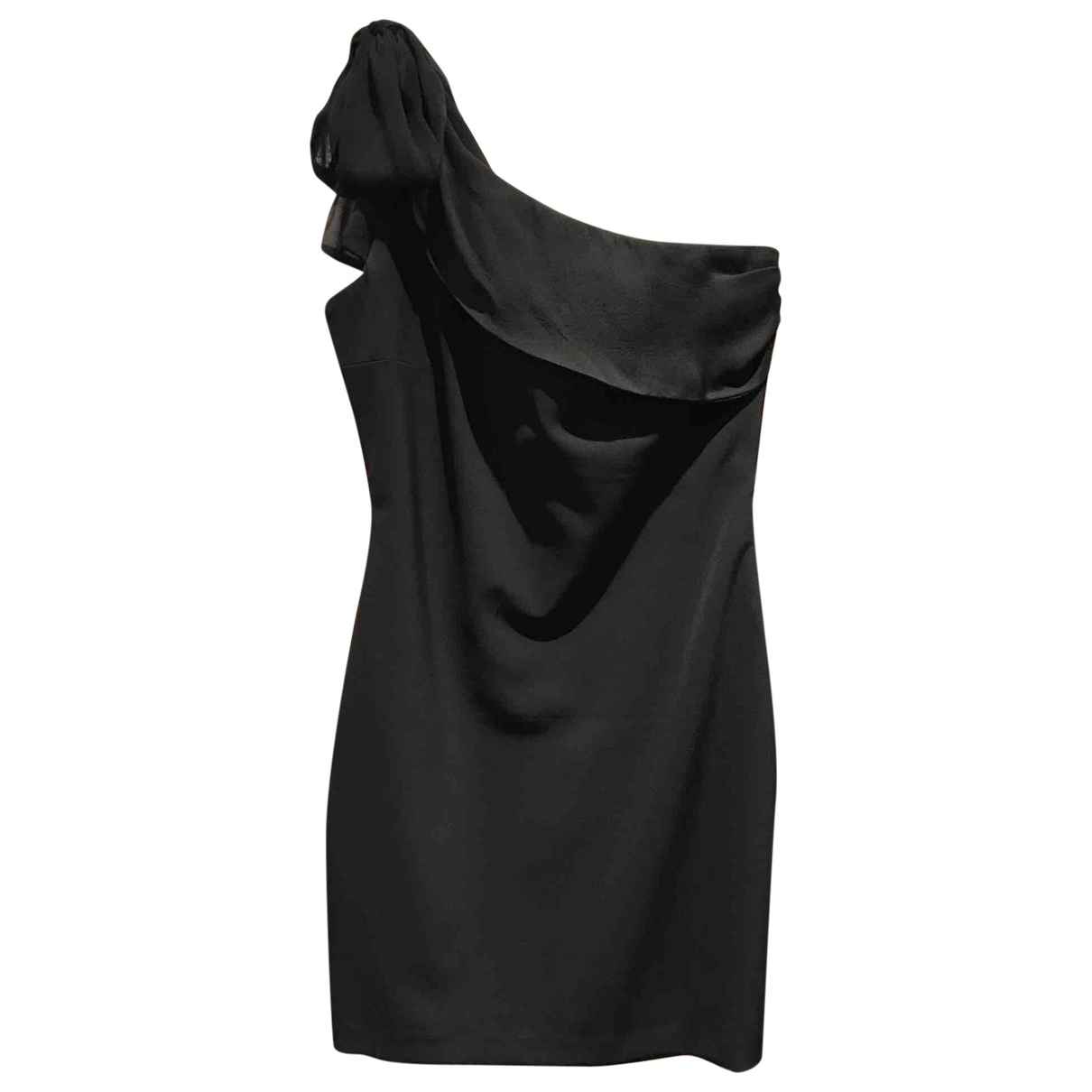 Elisabetta Franchi \N Black Cotton - elasthane dress for Women 44 IT