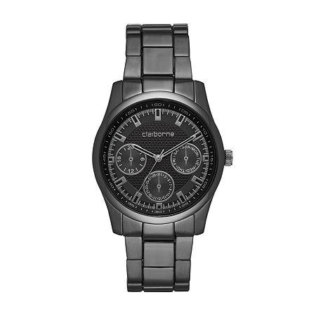 Claiborne Mens Gray Bracelet Watch-Clm1226t, One Size , No Color Family