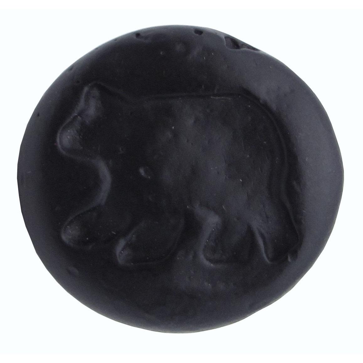 Bear Round Knob, Matte Black