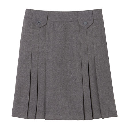French Toast Little & Big Girls Pleated Skirt, 20 , Gray