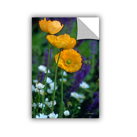Brushstone La Playa Poppies Removable Wall Decal, One Size , Green