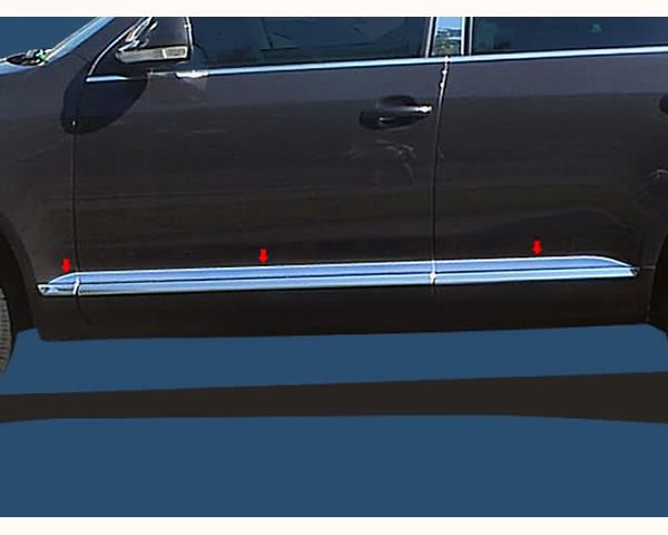 Quality Automotive Accessories 6-Piece Rocker Panel Accent Trim Kit Volkswagen Touareg 2010