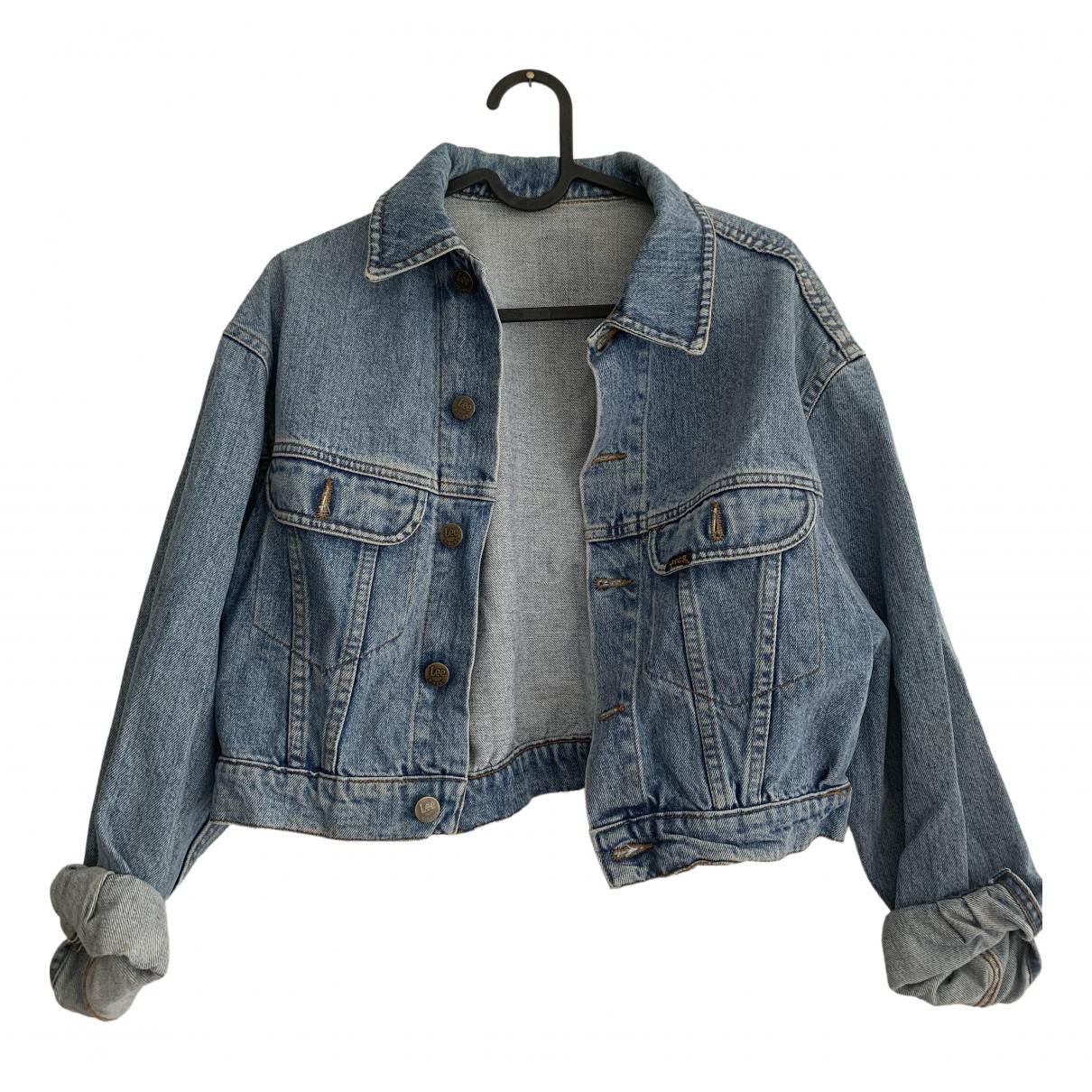 Lee \N Jacke in  Blau Denim - Jeans
