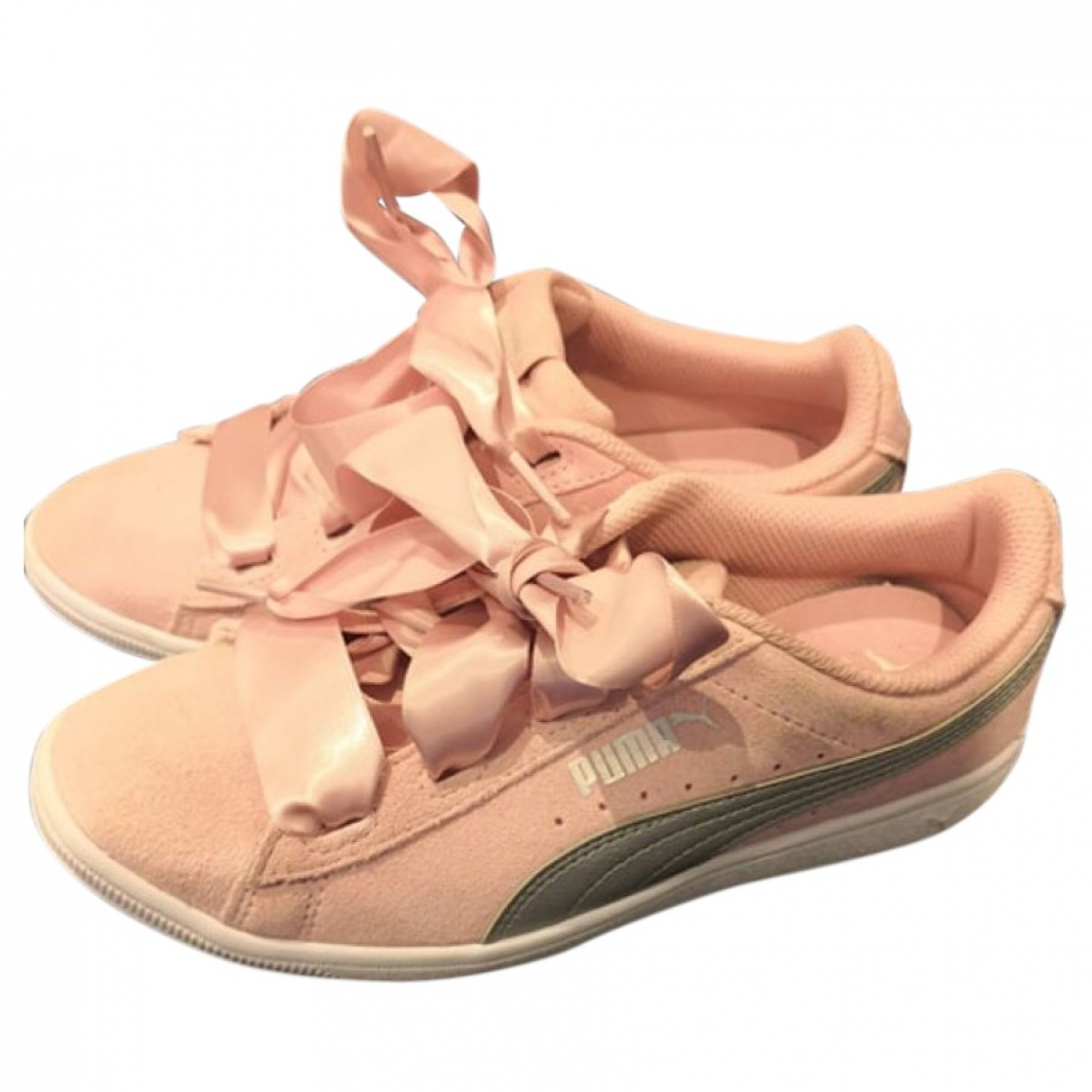 Puma - Baskets   pour femme en cuir - rose