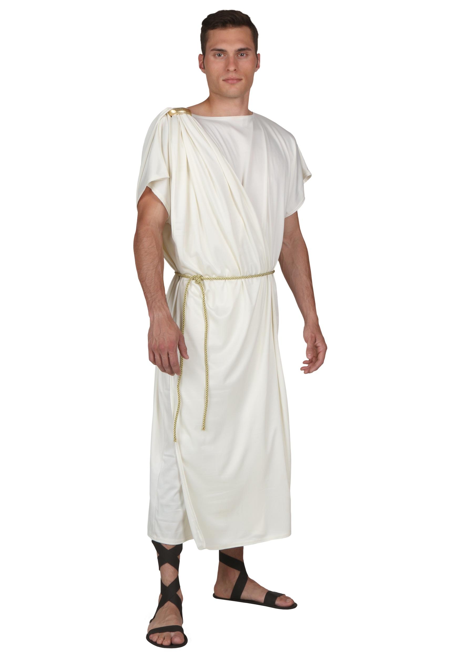 Plus Size Toga Halloween Costume for Men | Greek Costume