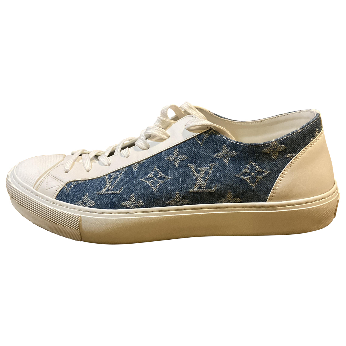 Louis Vuitton N White Leather Trainers for Men 8 UK