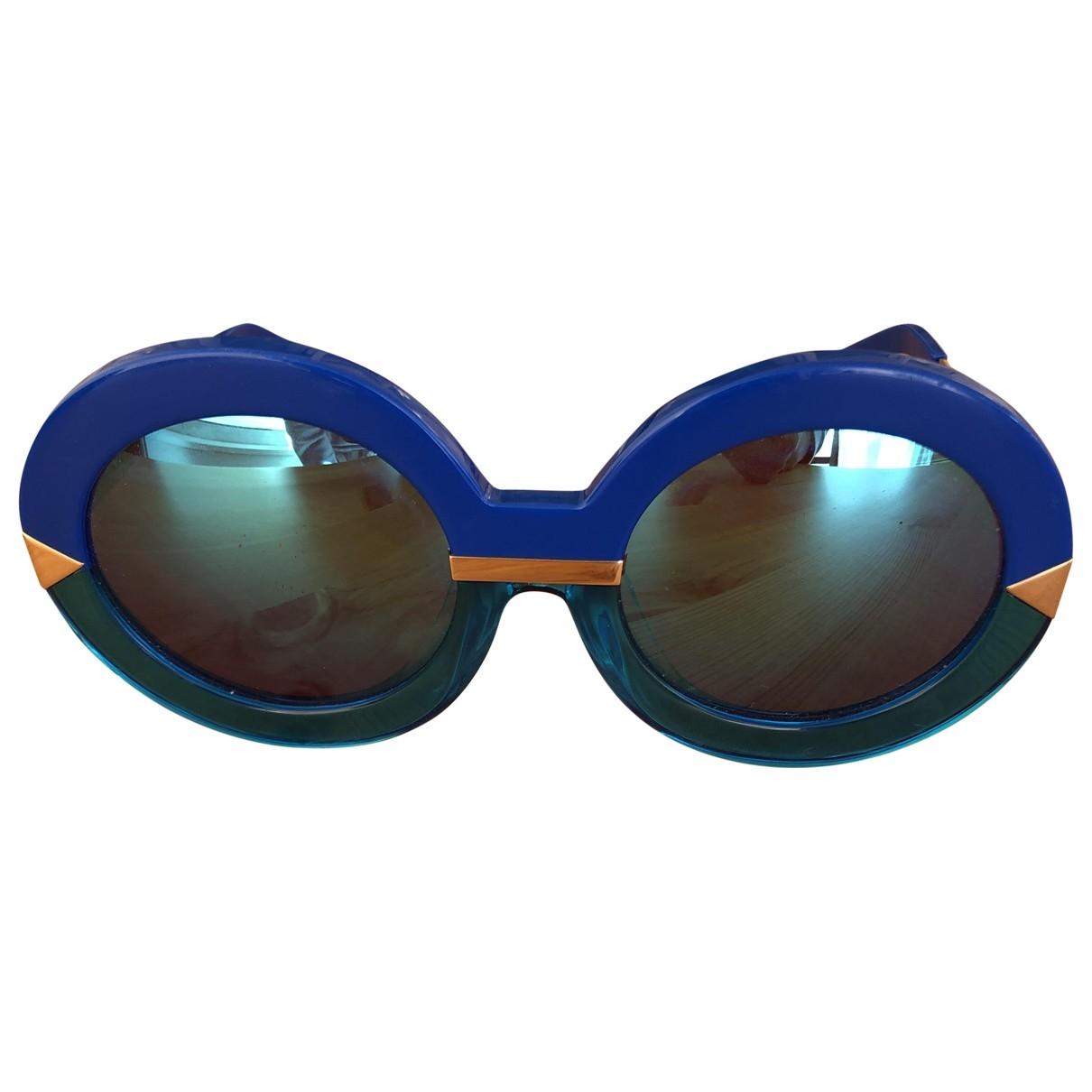 Karen Walker - Lunettes   pour femme - bleu