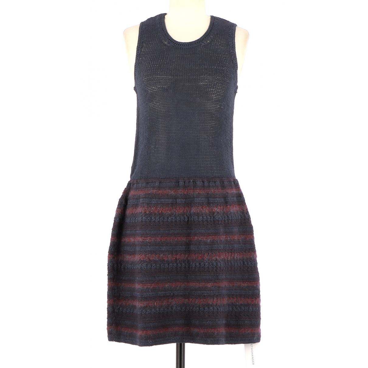 Rodier - Robe   pour femme en coton - bleu