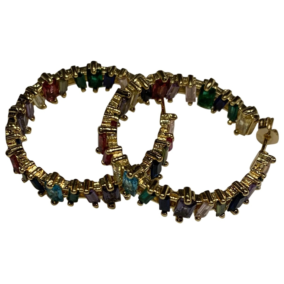 - Boucles doreilles   pour femme en acier - multicolore