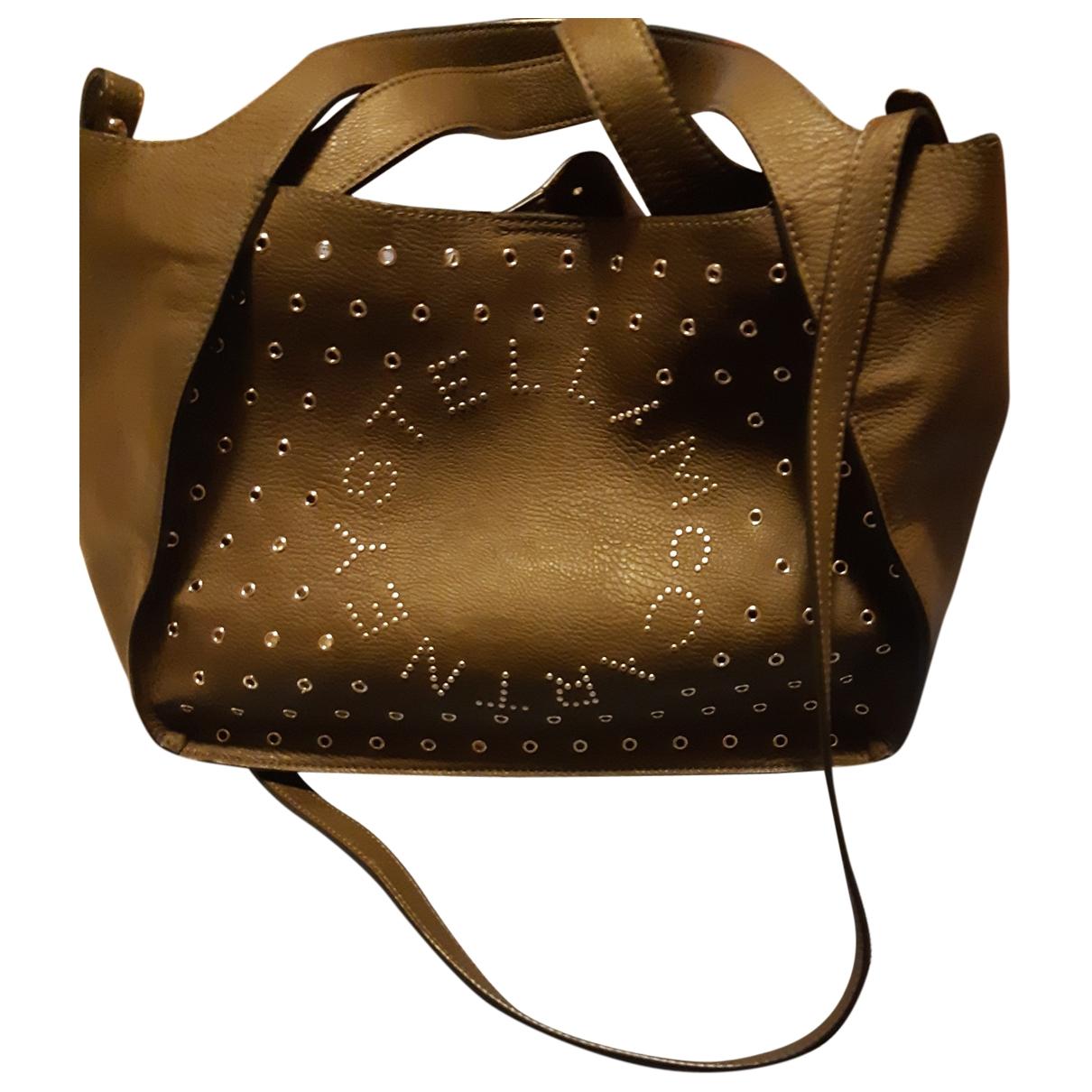 Stella Mccartney \N Handtasche in  Khaki Leinen