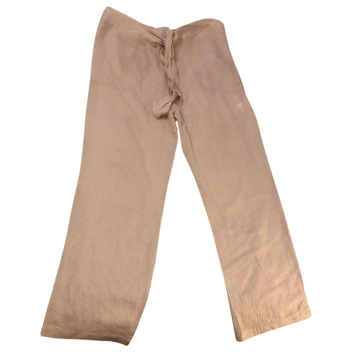 Masscob \N Pink Cotton Trousers for Women 34 FR