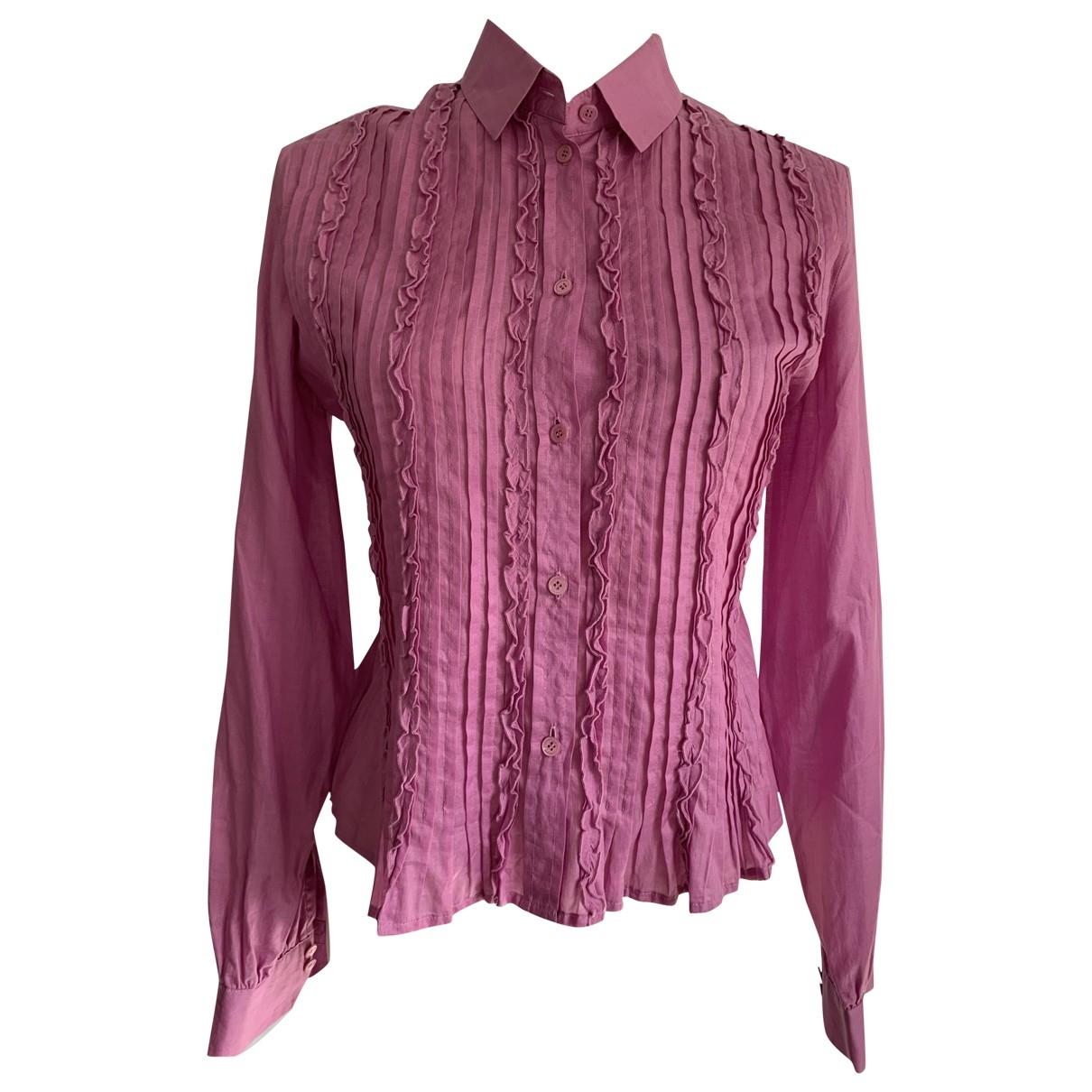 Louis Feraud \N Pink Cotton  top for Women 38 FR