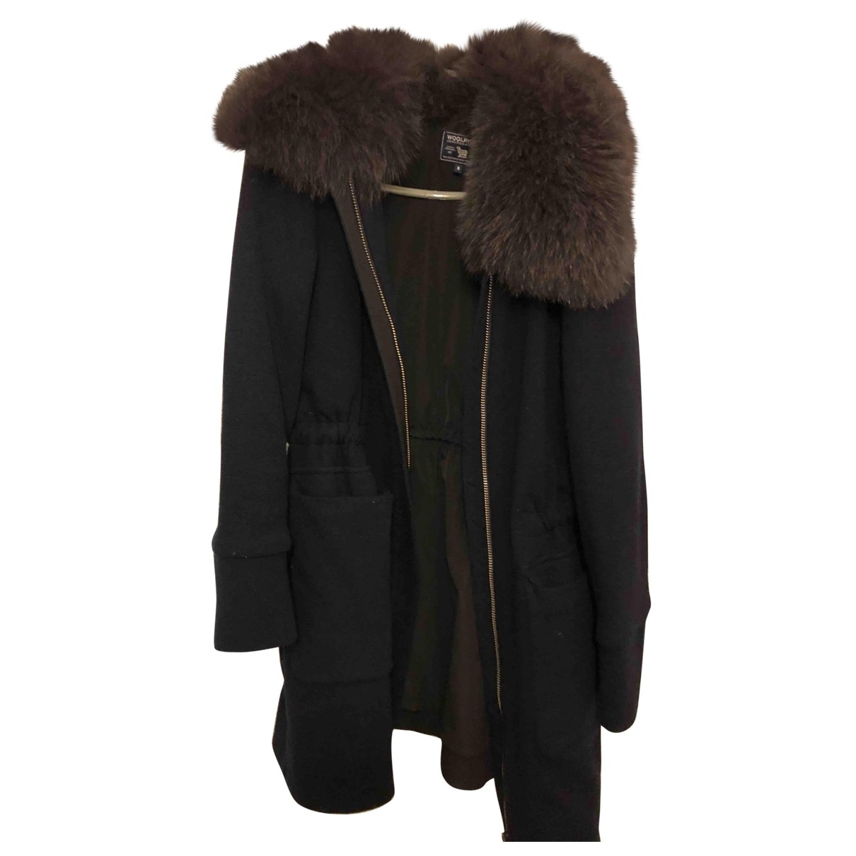 Woolrich - Manteau   pour femme en laine - bleu