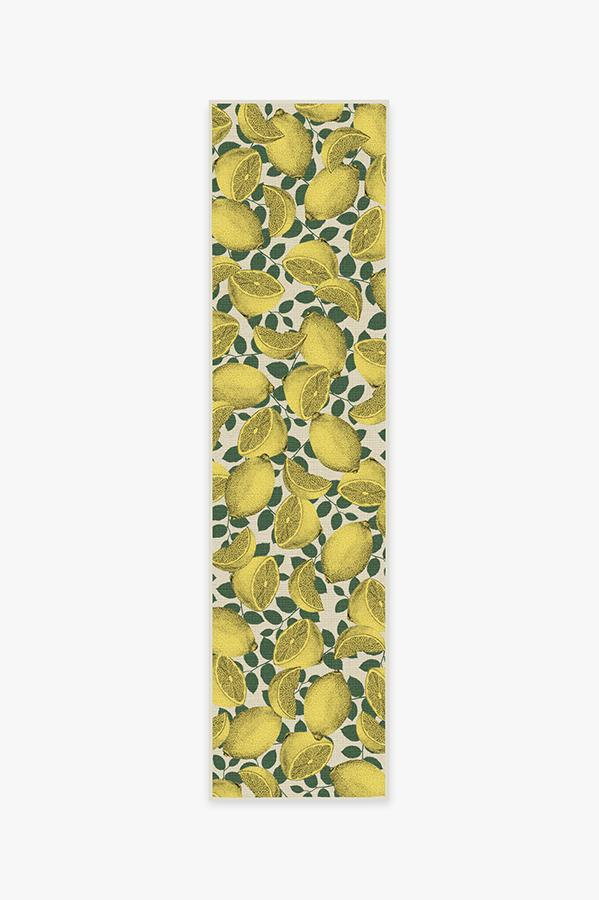 Washable Rug Cover   Outdoor Limoncello Yellow Rug   Stain-Resistant   Ruggable   2.5'x10'