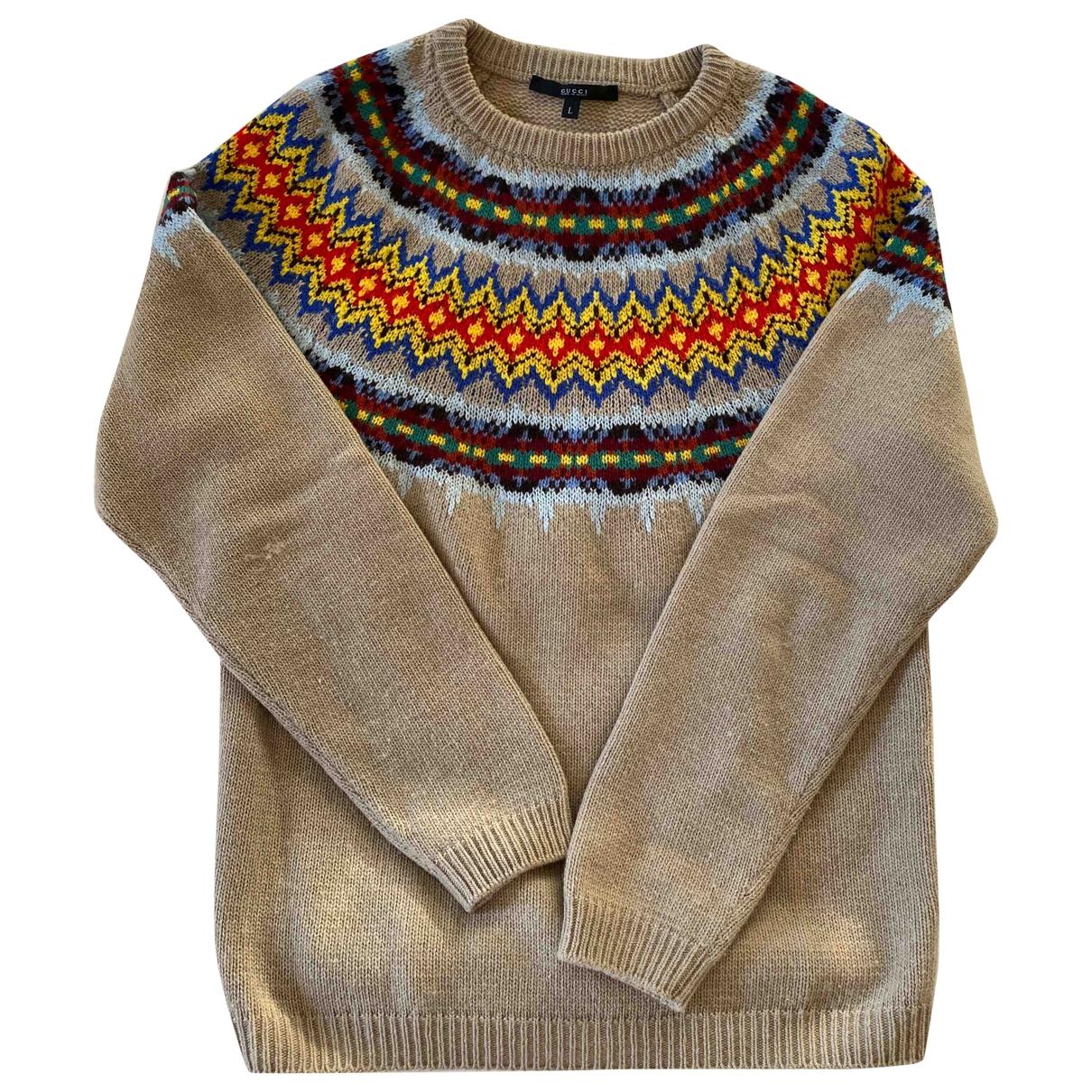 Gucci \N Pullover.Westen.Sweatshirts  in  Beige Kaschmir