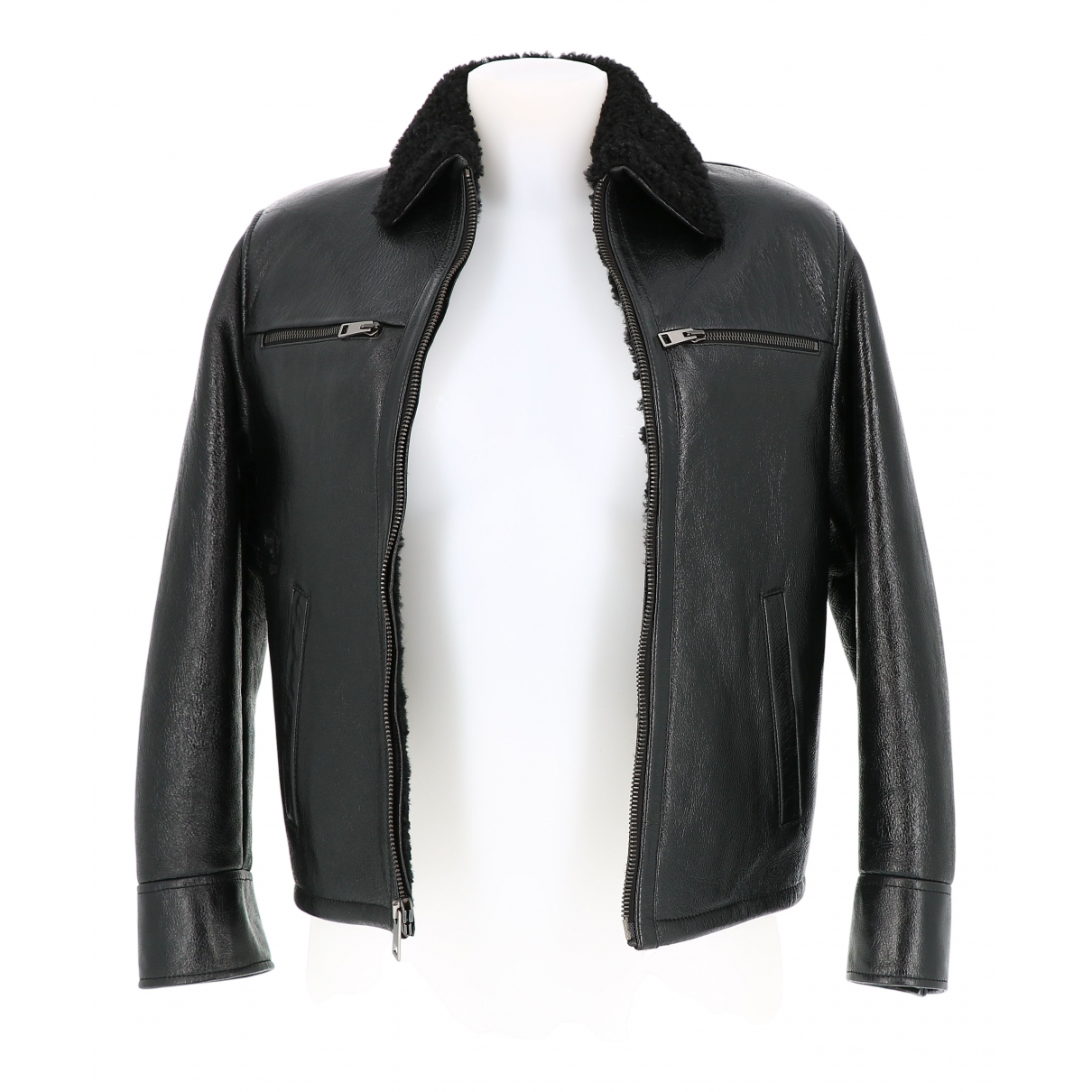 Dior N Black Leather Leather jacket for Women 36 FR