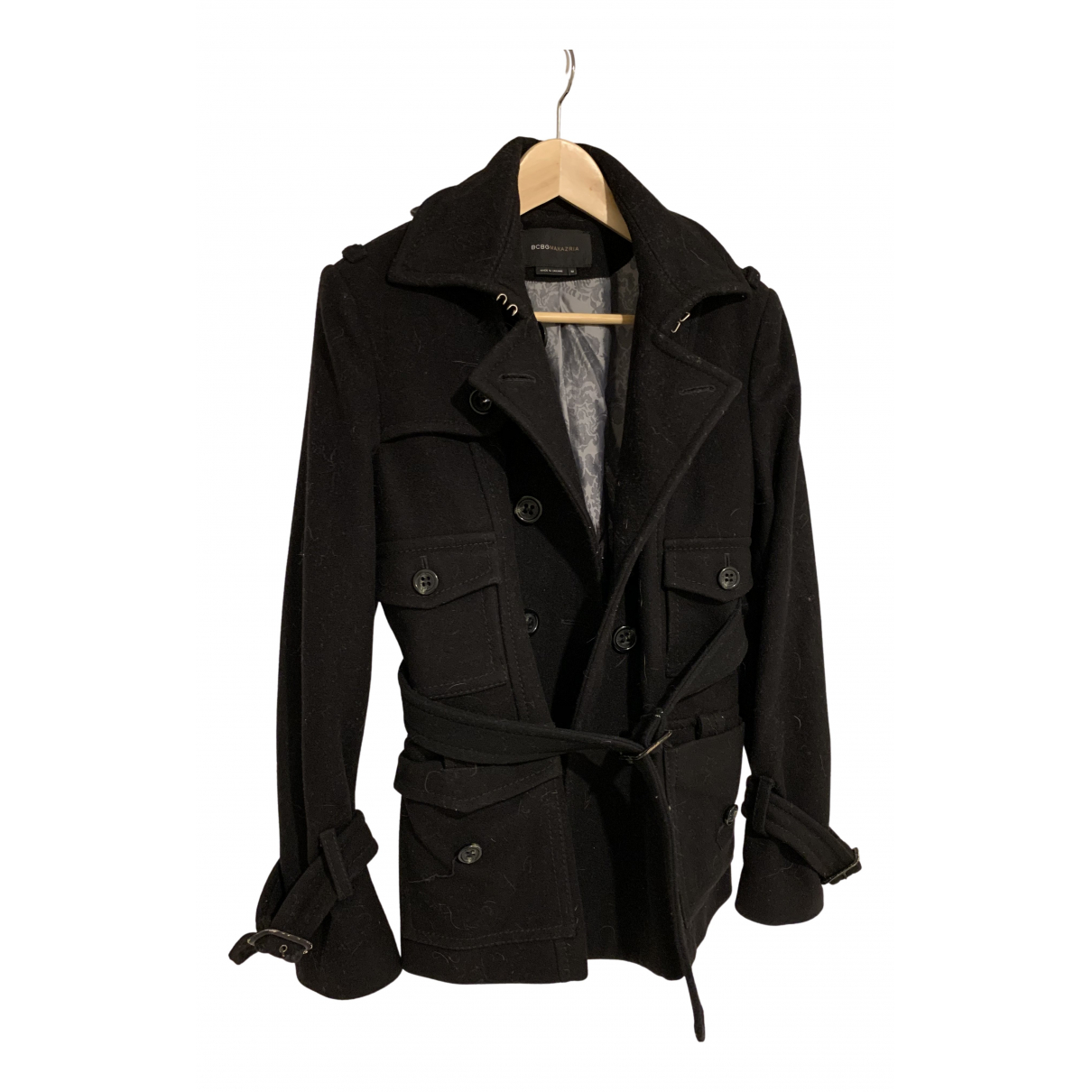 Bcbg Max Azria - Manteau   pour femme en laine - noir