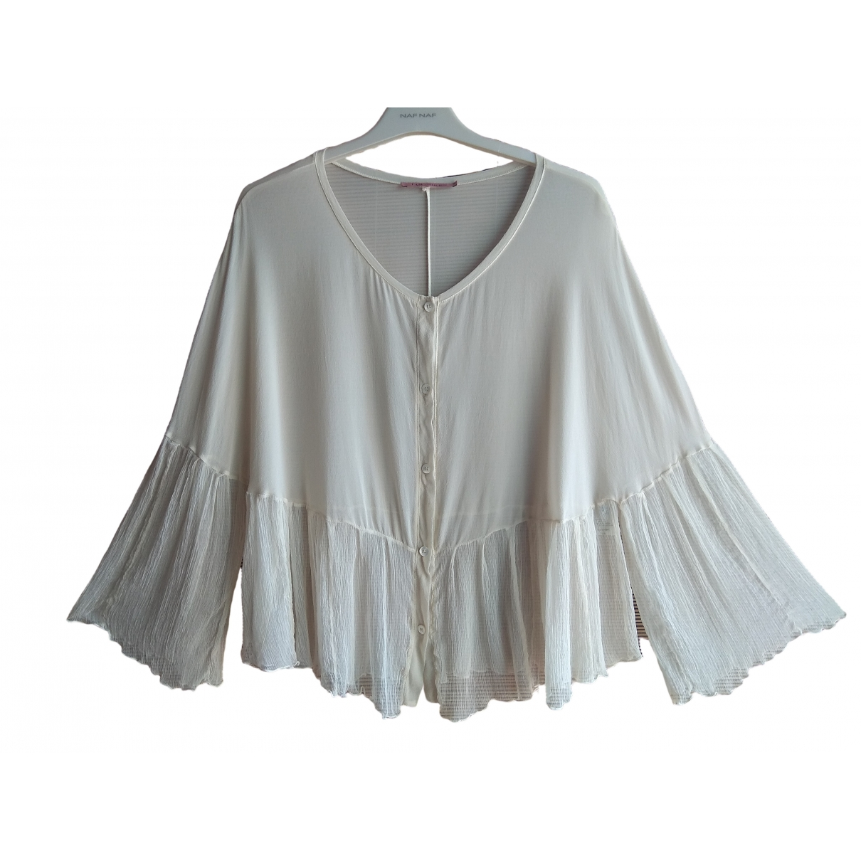 Non Signé / Unsigned \N Beige Silk  top for Women 44 IT