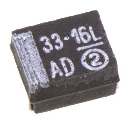 Vishay Tantalum Capacitor 33μF 16V dc MnO2 Solid ±10% Tolerance , 293D (10)