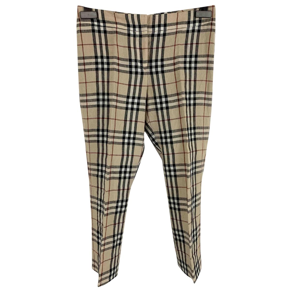 Pantalon corto de Lino Burberry
